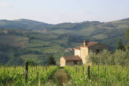 ** FILE ** The countryside in the Chianti region of Tuscany, is seen in this May 2004 photo. Imagine a world where Chianti wine is made in Scandinavia.  It could come to just that by the end of the century, experts in Italy warn, if global warming continues unchecked. (AP Photo/Gretchen Heefner)