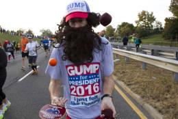 A runner starts the 41st Marine Corps Marathon, Sunday, Oct. 30, 2016, in Arlington, Va. ( AP Photo/Jose Luis Magana)