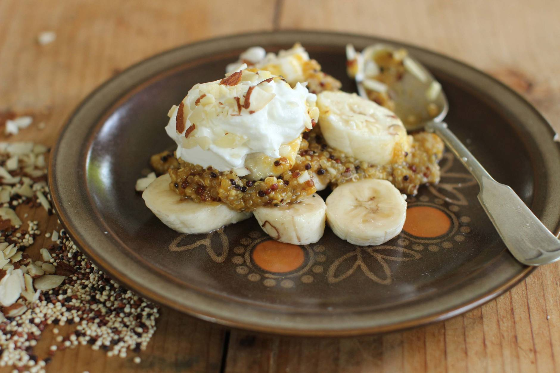 This Sept. 21, 2015, photo shows quinoa pumpkin breakfast bowl in Concord, N.H. (AP Photo/Matthew Mead)