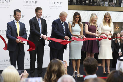 Trump attends grand opening of his DC hotel