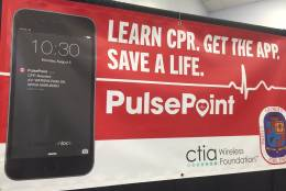 The app alerts people to defibrillators that are nearby to cardiac arrest victims. (WTOP/John Domen)