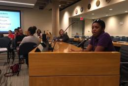 Lessie Henderson with Prince George's Advocates for Community Based Transit was among those who said Metro's regular hours are crucial. (WTOP/Max Smith)