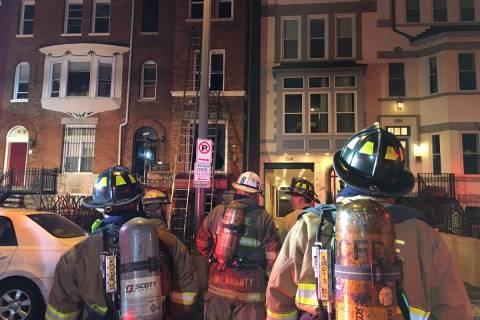 Firefighter injured in Northwest DC fire