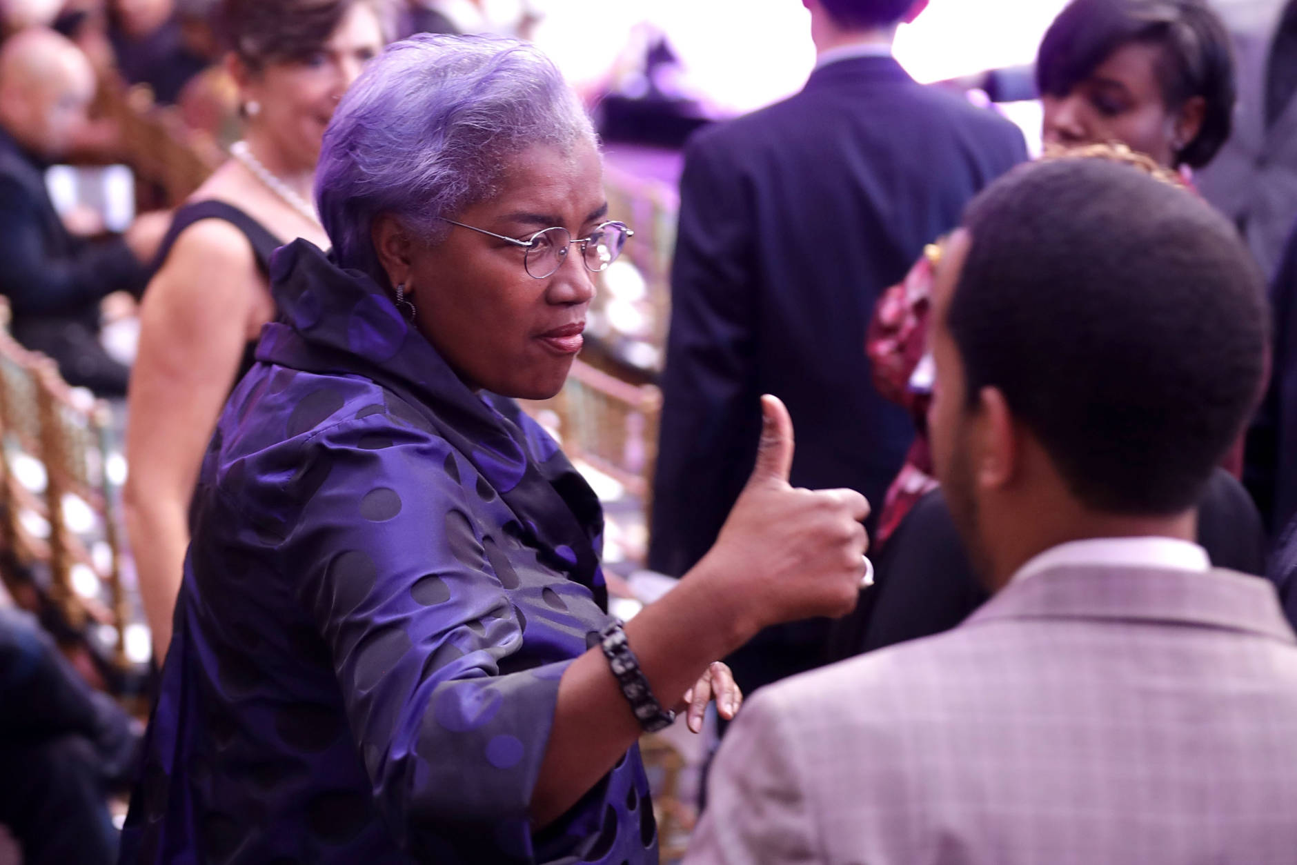 """WASHINGTON, DC - OCTOBER 21:  Democratic National Committee Interim Chairperson Donna Brazile attends the BET's 'Love and Happiness: A Musical Experience"""" in a tent on the South Lawn of the White House October 21, 2016 in Washington, DC. The show will feature performances by Usher, Jill Scott, Common, The Roots, Bell Biv DeVoe, Janelle Monae, De La Soul, Yolanda Adams, Michelle Williams and Kiki Sheard, along will appearances by actors Samuel L. Jackson, Jesse Williams and Angela Bassett.  (Photo by Chip Somodevilla/Getty Images)"""