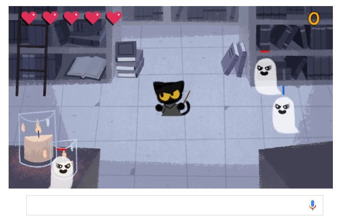 Google treats users to cat-against-ghosts game for Halloween | WTOP