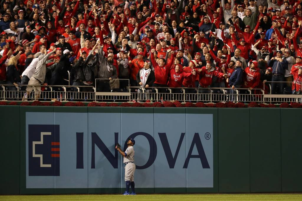 Chris Heisey's home run offered the chance for the narrative to change. (Photo by Rob Carr/Getty Images)