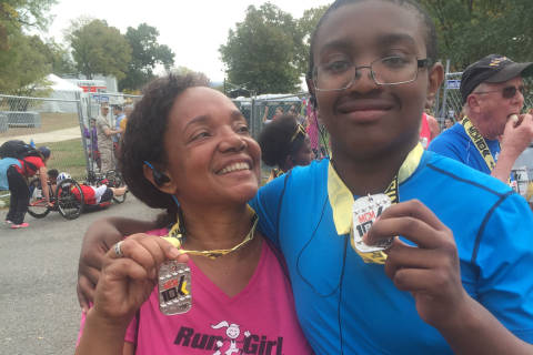 WTOP anchor runs Marine Corps 10K with autistic son