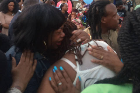 Residents hold vigil for DC girl stabbed to death after argument