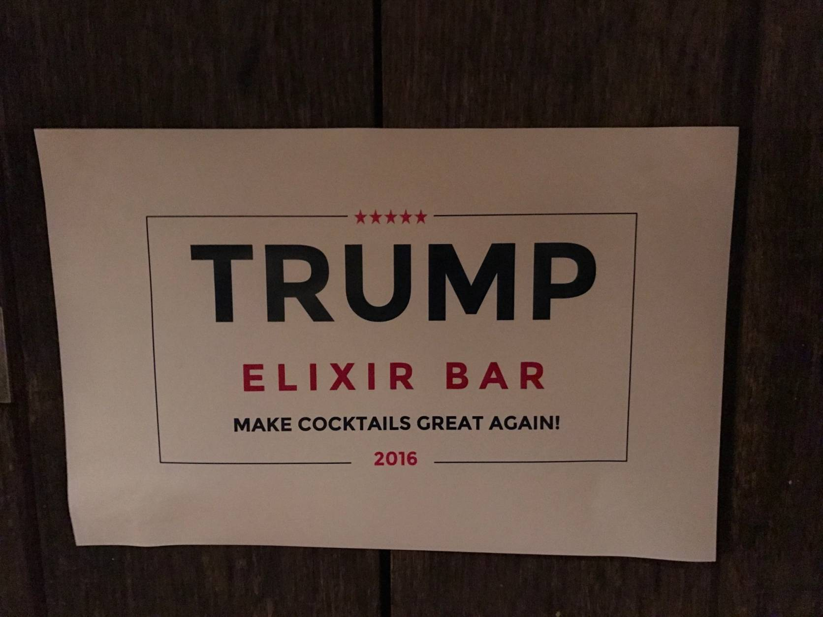 If you can't make it over to Capitol Hill to partake in the parody, Washingtonian reports that another Trump-themed pop-up bar is coming to the former Libertine space in Adams Morgan Nov. 2-8 — this one's focus is on mezcal. (WTOP/Rachel Nania)
