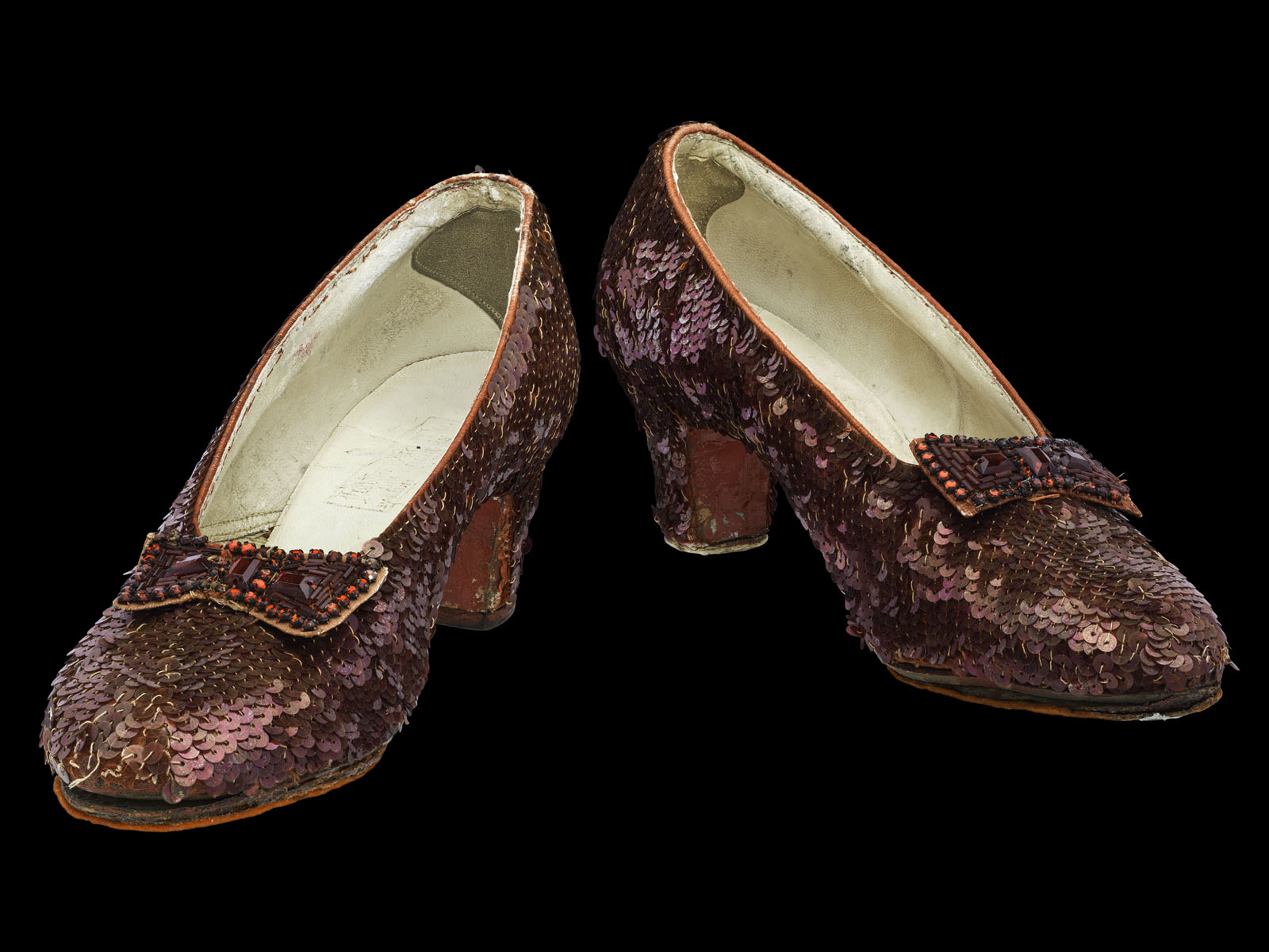 The famous slippers have been on display since 1979 and are showing their age. (Courtesy Smithsonian National Museum of American History)