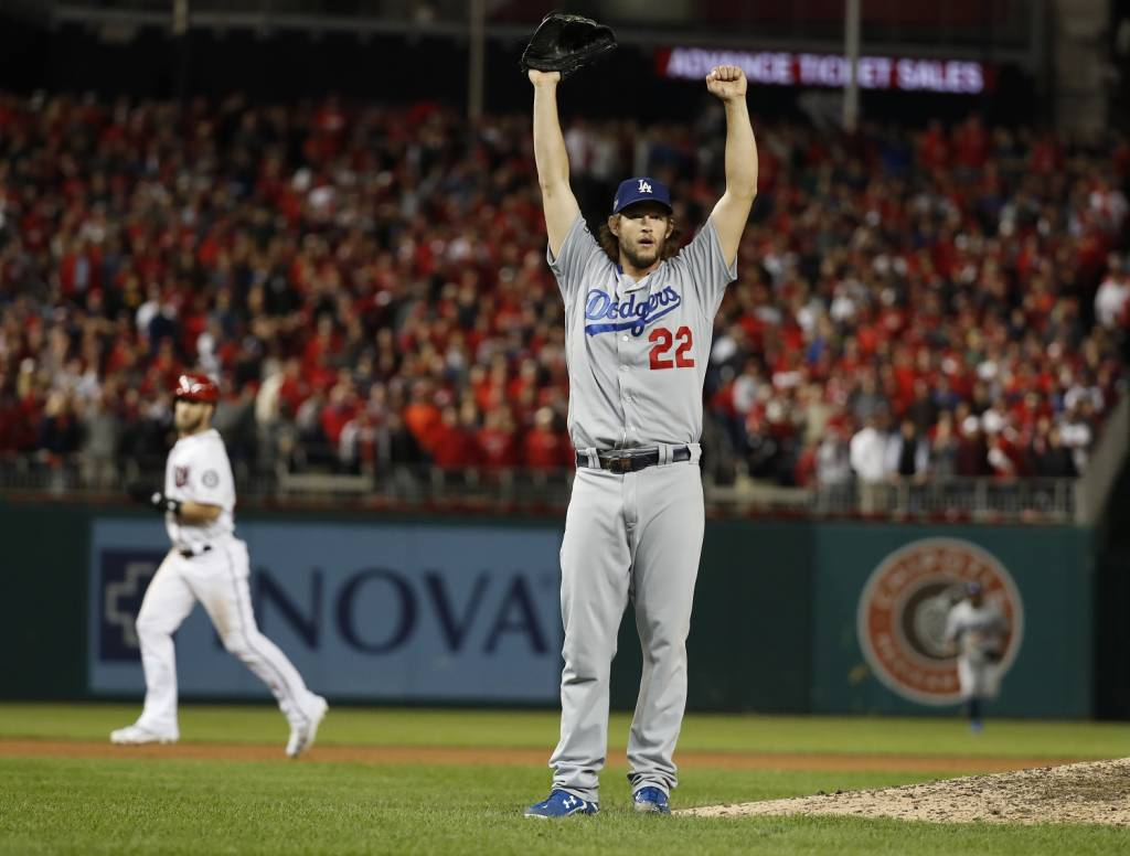 In the end, Clayton Kershaw stood on the mound to finish the Nationals' season. (AP Photo/Alex Brandon)