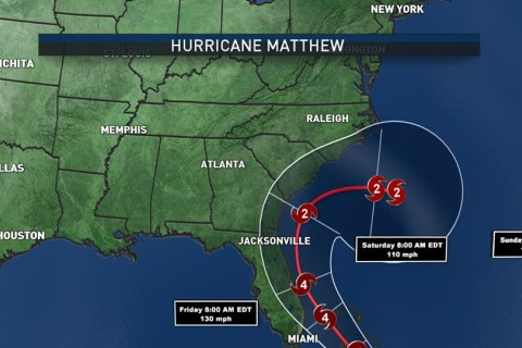 Latest models: Hurricane Matthew to stay south of DC area