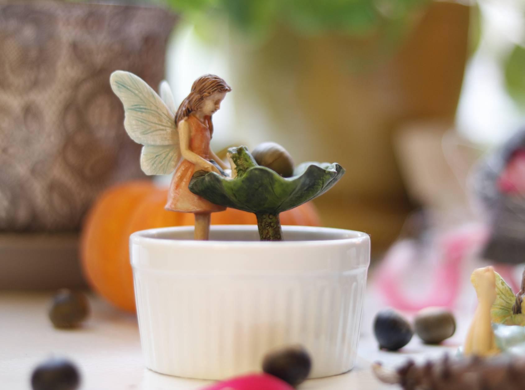 Eloie's indoor fairy garden with keepsakes from her grandmother. (WTOP/Kate Ryan)