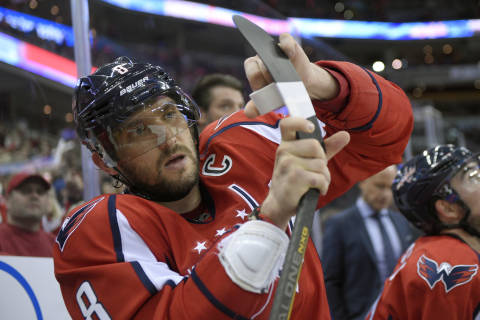 Capitals' Alex Ovechkin hits the ice with DC youth hockey players