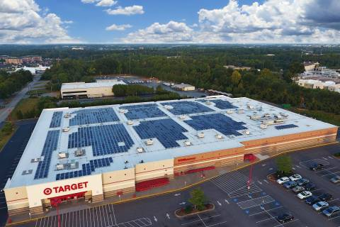 US companies increase solar capacities, Target leads