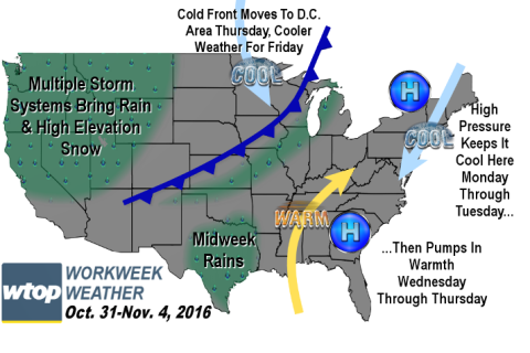 Workweek weather: Off to chilly start; mostly quiet