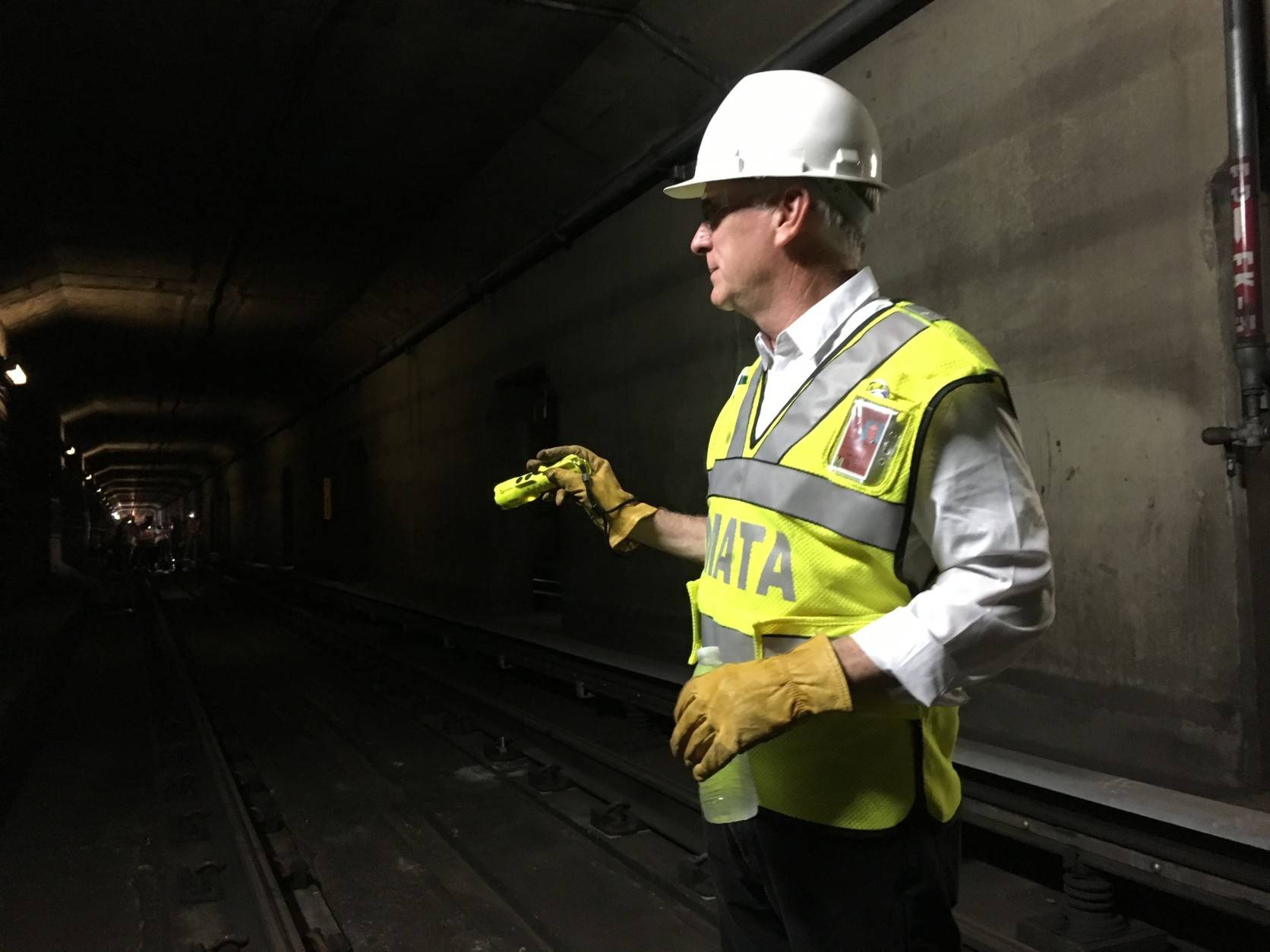 Metro GM Paul Wiedefeld wants to cut late-night Metro service even after the track work is done, but the DC Council has other ideas. (AP Photo/Ben Nuckols)