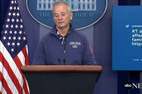 Bill Murray crashes White House press briefing
