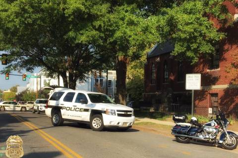 Industrial accident closes street in Alexandria