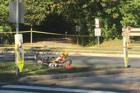 81-year-old bicyclist struck by vehicle in Bethesda dies