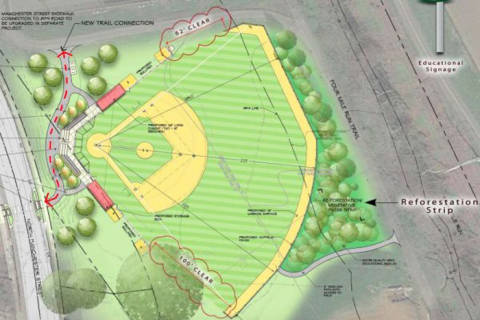 Arlington revises Bluemont baseball field plan in attempt at compromise