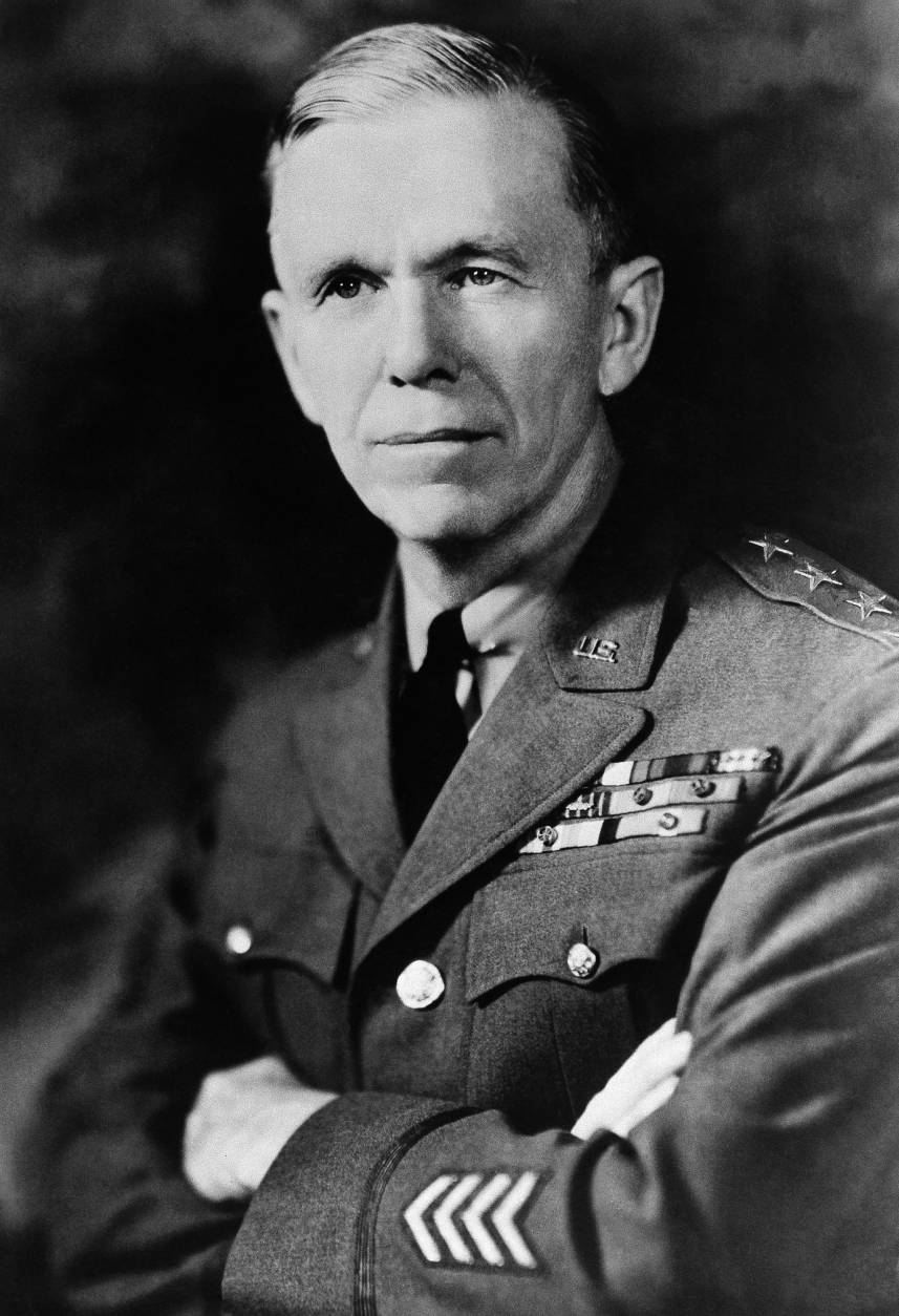 General George Catlett Marshall, U.S. Army, on Sept. 10, 1939, wearing the four stars  of a General. General  Marshall was promoted to Major General and was invested the same day with the rank and title of General by virtue of his detail as chief of staff of the army. (AP Photo)
