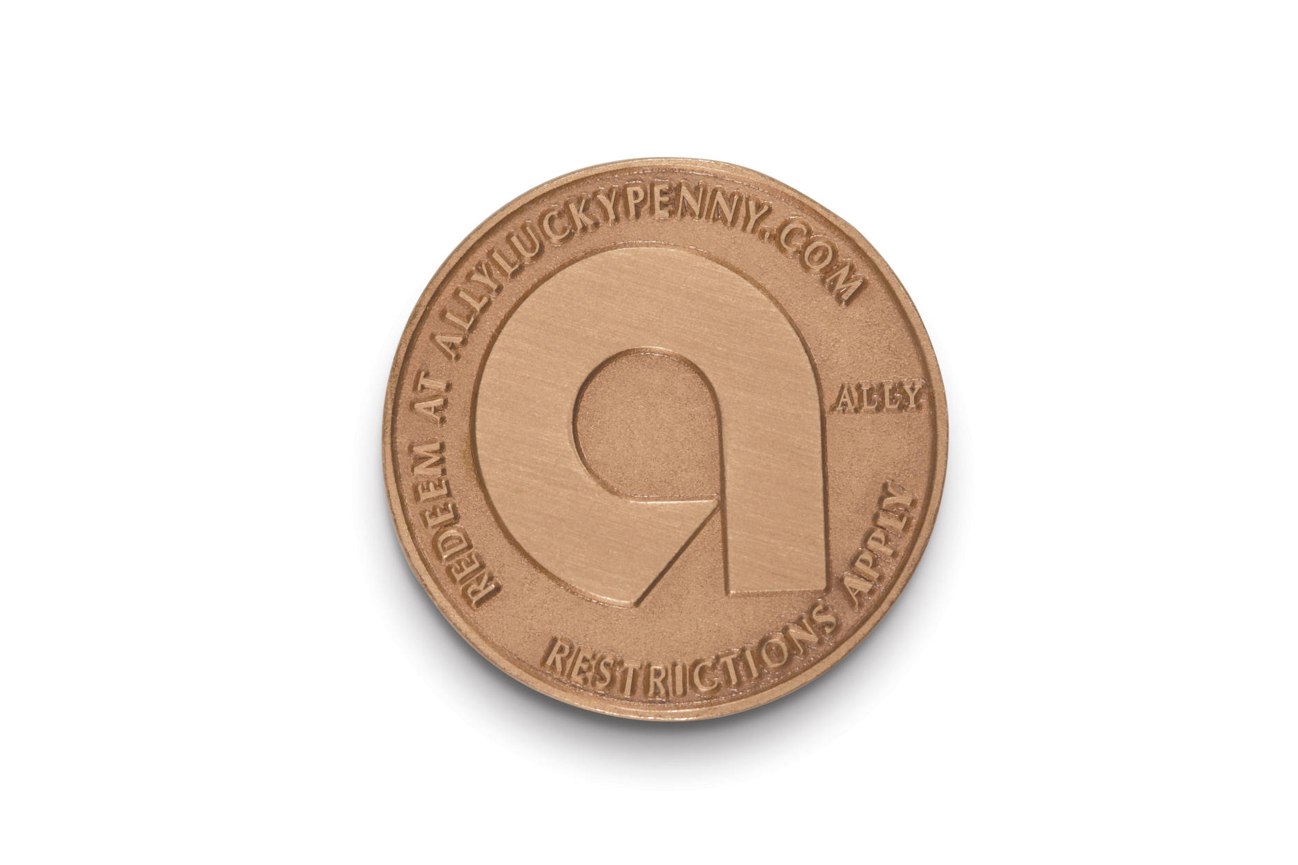 Here's what the other side of Ally's Lucky Penny looks like. (Courtesy Ally Bank)