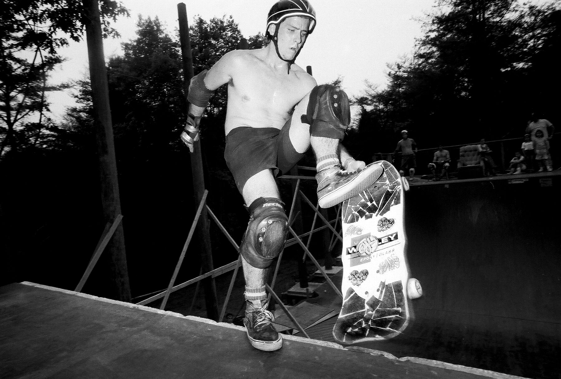 Skater Mike Mapp helped build Cedar Crest Country Club's legendary ramp. (Photo Andy Bittner)