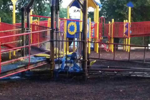 DC playground torched; 3rd in area in Oct.