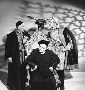 """Boris Karloff, Peter Lorre and Vincent Price appear together for the first time in the film """"The Raven,"""" based on the Edgar Allen Poe story, Oct. 9, 1962. (AP Photo)"""