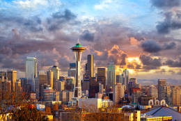 "9. Seattle, Washington Another city in the Pacific Northwest lands in Conde Nast's Traveler's  ""The Best Big U.S. Cities."" (Getty Images/iStockphoto/dibrova)"