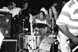 Bands, including D.C.'s Scream, featuring drummer Dave Grohl, performed concerts on the skate ramp at CCCC. (Courtesy Mike Maniglia)