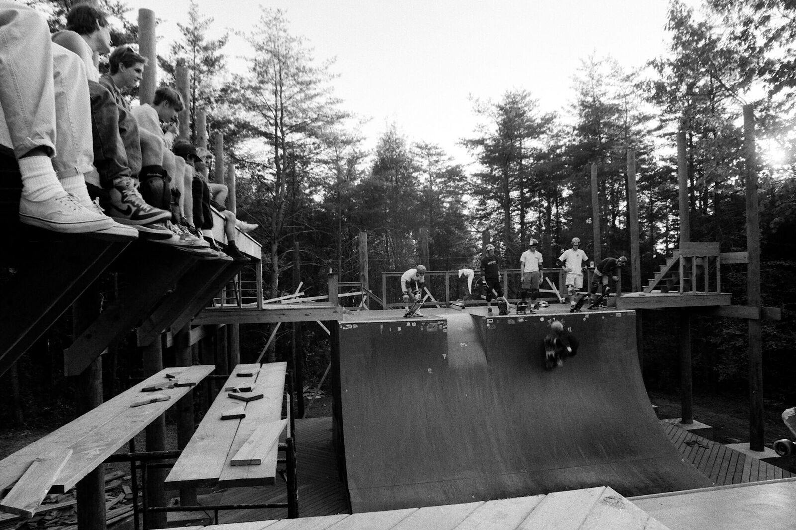 Skaters often watched each others for hours, at the Cedar Crest ramp. (Courtesy Mike Maniglia)