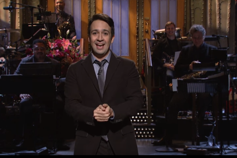 Lin-Manuel Miranda hosts SNL, remixes Hamilton's 'My Shot' (Video)