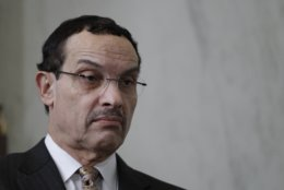 In a Jan. 4, 2011 photo then-D.C. Mayor Vincent Gray is pictured at a news conference on Capitol Hill in Washington. (AP Photo/Charles Dharapak)