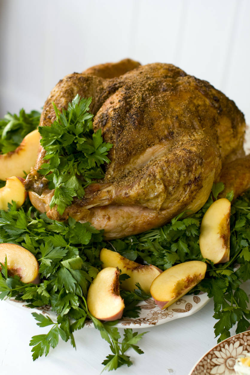 This Oct. 24, 2011 photo shows fennel rubbed turkey in Concord, N.H. The peppery-licorice flavor of fennel is perfect for complementing the many rich and savory flavors of the Thanksgiving table.    (AP Photo/Matthew Mead)