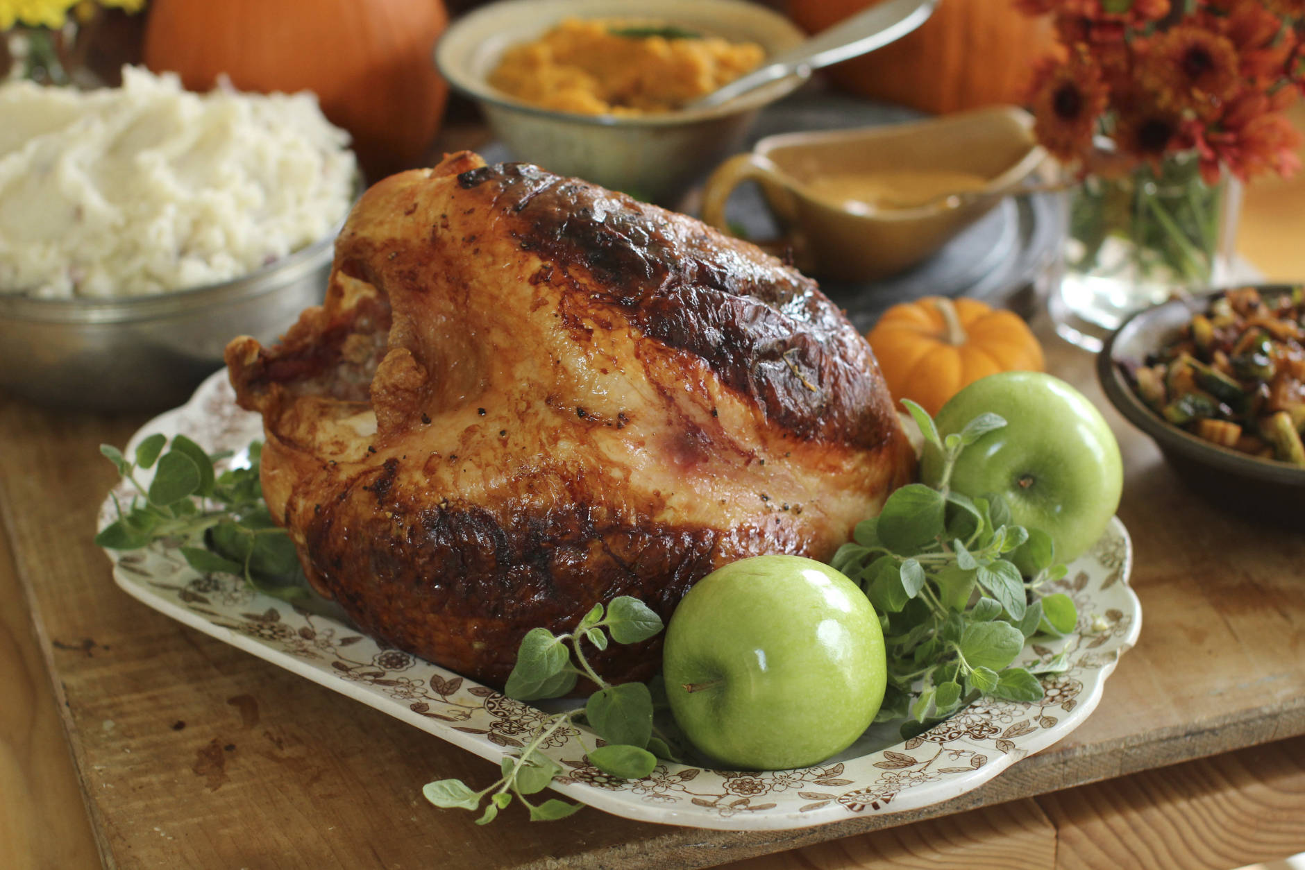 FILE - This Sept. 28, 2015 file photo shows Italian-style roast turkey breast in Concord, N.H. If you're not feeding a crowd for the holidays, then roasting a turkey breast could be the way to go. This dish is from a recipe by Sara Moulton. (AP Photo/Matthew Mead, File)