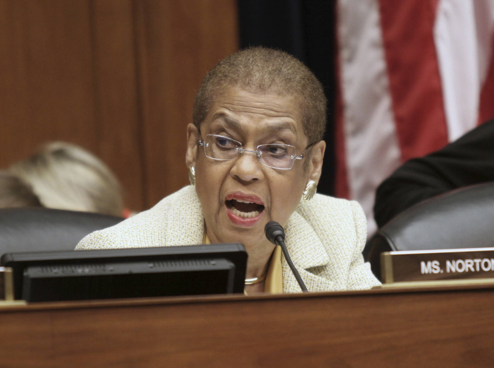 FILE - In this June 15, 2016 file photo, Del. Eleanor Holmes Norton, D-D.C. speaks on Capitol Hill in Washington.  (AP Photo/Lauren Victoria Burke, File)