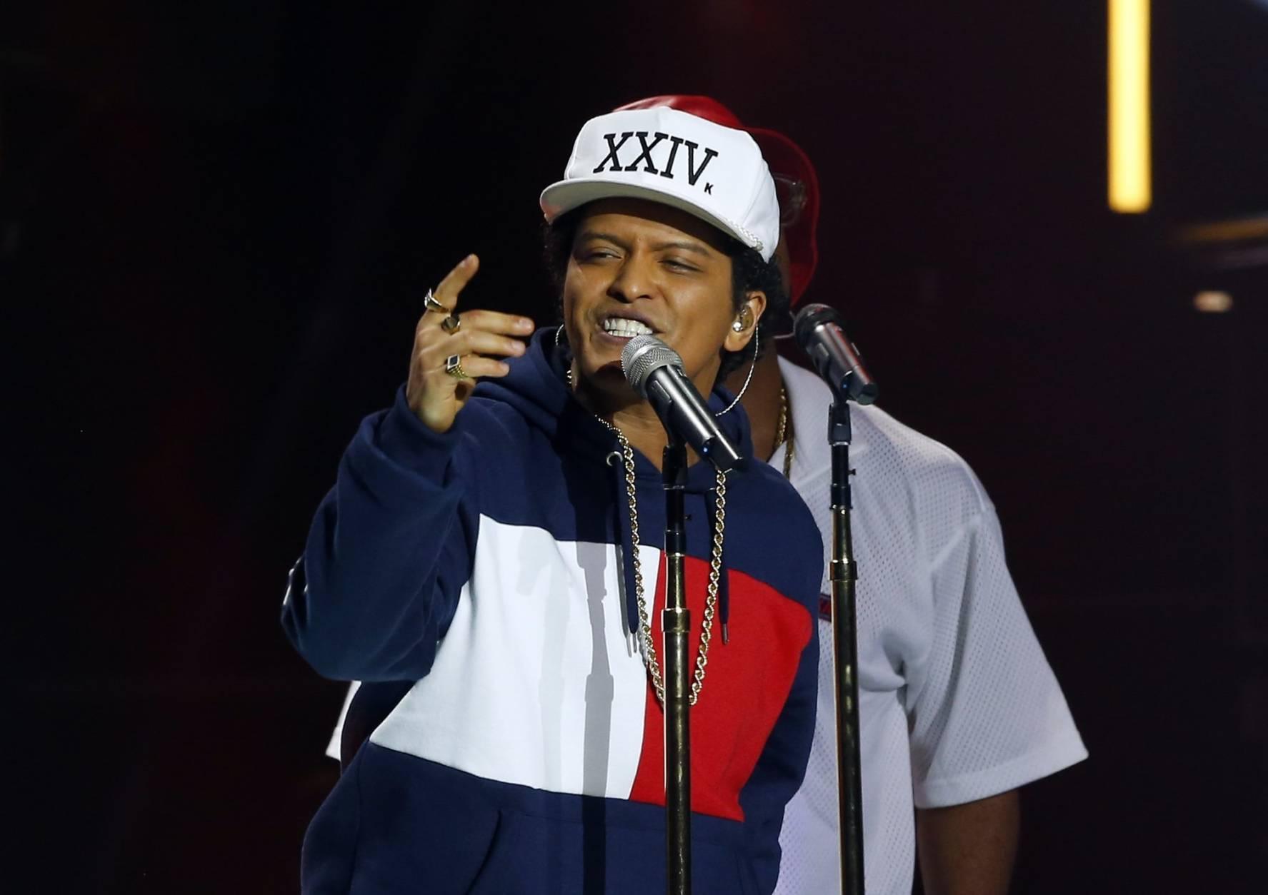 Bruno Mars will perform at MGM National Harbor De. 27, 2016. (AP Photo/Peter Dejong)