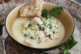 This Feb. 8, 2016 photo shows avgolemono in Concord, N.H. This Greek chicken and rice soup gets a rich thickness from eggs that are tempered, then whisked into the hot broth, creating a delicious counterpoint to the fresh flavor of the lemon juice. (AP Photo/Matthew Mead)