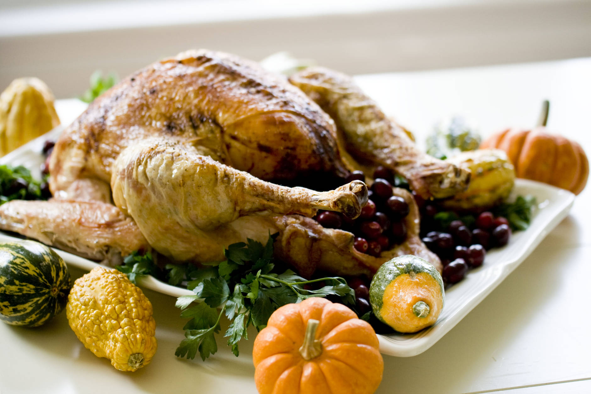 """This Oct. 21, 2013 photo shows a """"back to basics"""" turkey in Concord, N.H. The recipe is so basic, it calls for just four ingredients. (AP Photo/Matthew Mead)"""