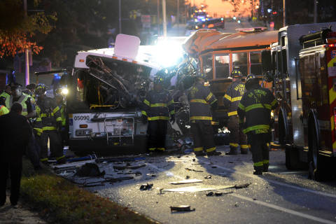 Police release names of Baltimore bus crash victims
