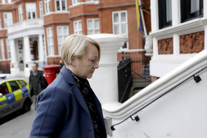 Julian Assange questioned at Ecuadorean Embassy in London