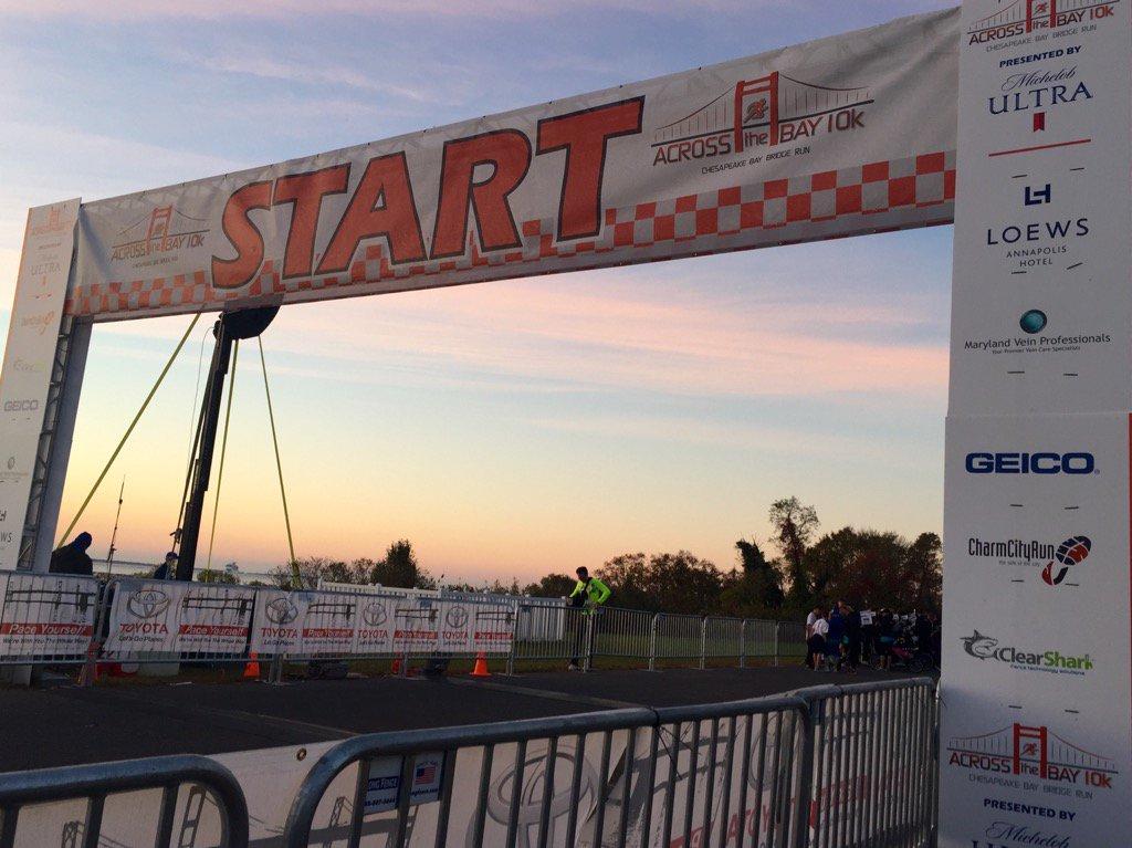 Across the bay 10k draws 20 000 runners including md gov for Bay bridge run 2016