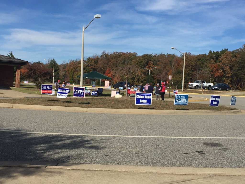No lines for voters in Spotsylvania, Va. (WTOP/Dennis Foley)