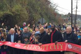 Photo of ribbon cutting ceremony in Ellicott City, Maryland.