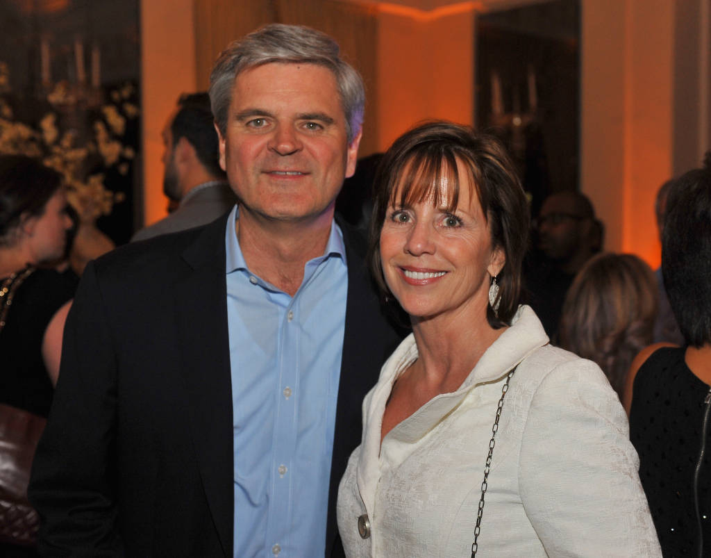 Steve Case and Jean Case attend Capitol File's WHCD Weekend Welcome Reception with Cecily Strong at The British Embassy on April 24, 2015 in Washington, DC.  (Photo by Larry French/Getty Images for Capitol File Magazine)