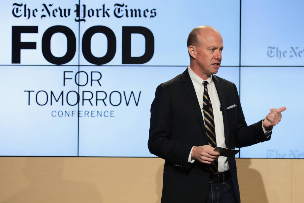 Sam Sifton, Food editor, The New York Times speaks onstage at The New York Times Food For Tomorrow Conference 2015 at Stone Barns Center for Food & Agriculture on October 21, 2015 in Pocantico Hills City.  (Photo by Neilson Barnard/Getty Images for the New York Times)