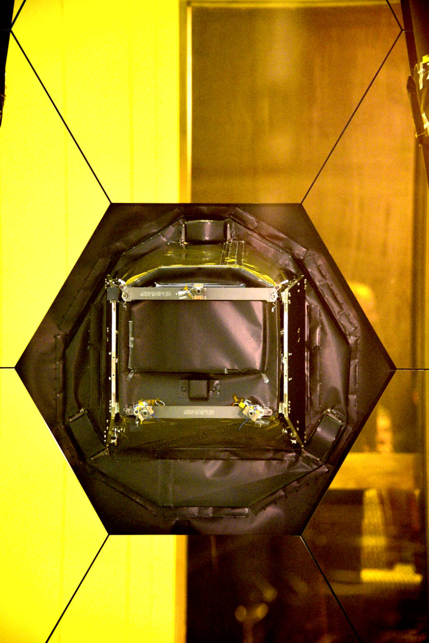 The opening to the JWST instruments. (WTOP/Greg Redfern)