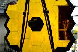 The Optical Telescope Element of JWST. (WTOP/Greg Redfern)
